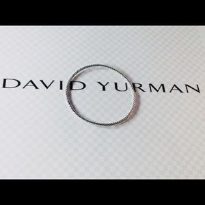 David Yurman DY 925 Sterling Silver 3mm bangle